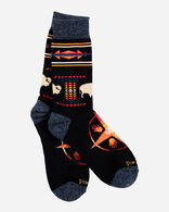 BIG MEDICINE CAMP SOCKS IN BLACK