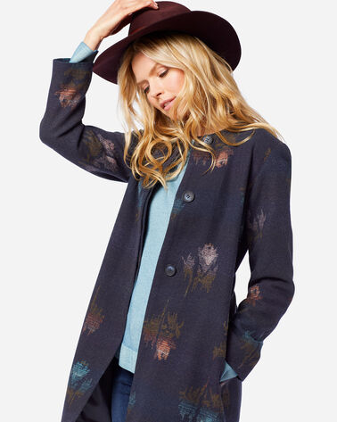 WOMEN'S ROSE CITY WOOL COAT IN NAVY