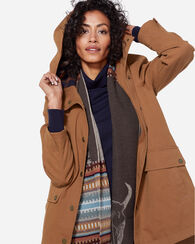 HOODED HELENA JACKET, WHISKEY, large