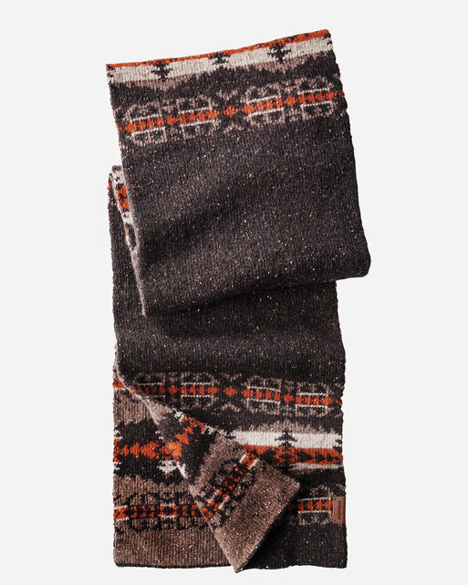 HAWKEYE KNIT MUFFLER, BROWN, large