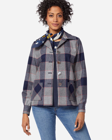 THE ORIGINAL '49ER JACKET IN NAVY/GREY PLAID