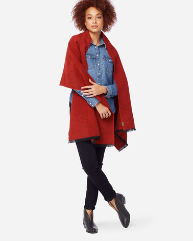 OVERSIZED WOOL WRAP, RED, large