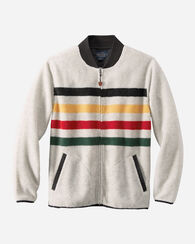 GLACIER STRIPE FLEECE JACKET, GLACIER STRIPE IVORY, large
