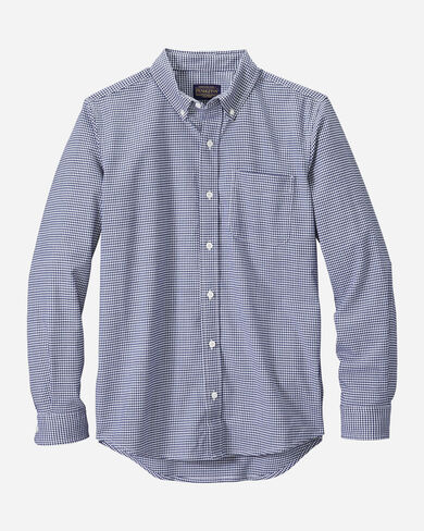 FITTED EVERGREEN STRETCH MERINO SHIRT IN NAVY/TEAL CHECK