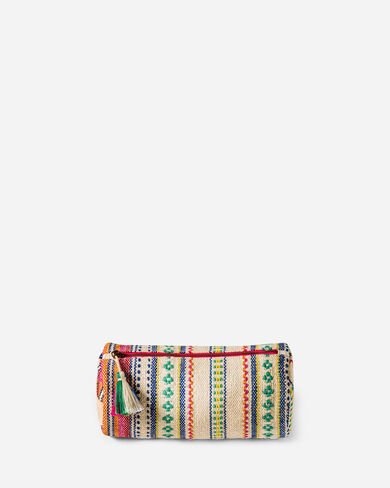PALOMA STRIPE COSMETIC BAG IN BRIGHT STRIPE