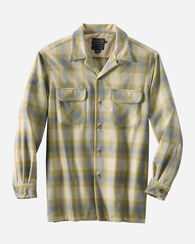 MEN'S BOARD SHIRT, SURF GREEN/TAN OMBRE, large