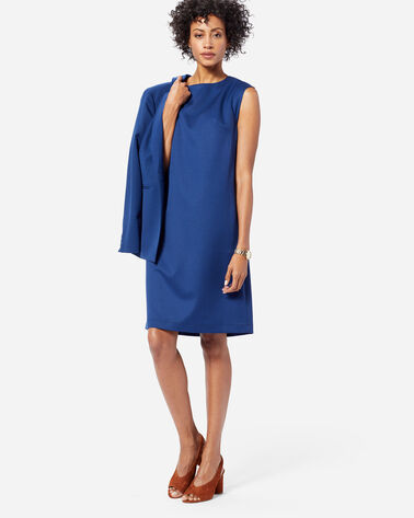 SEASONLESS WOOL CHARLI SHIFT DRESS IN ROYAL BLUE
