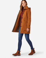 WOMEN'S EASTLAKE DUFFEL COAT IN WHISKEY