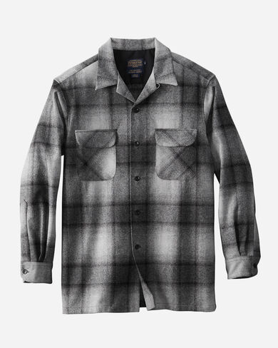 BIG BOARD SHIRT, GREY MIX/BLACK OMBRE, large