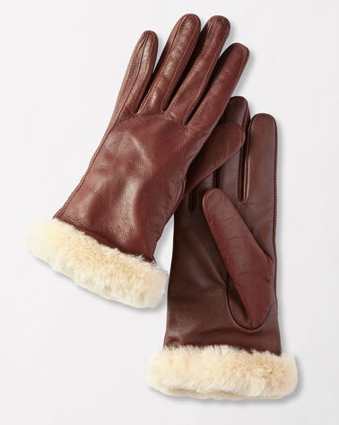 CLASSIC LEATHER SMART GLOVES, CORDOVAN, large