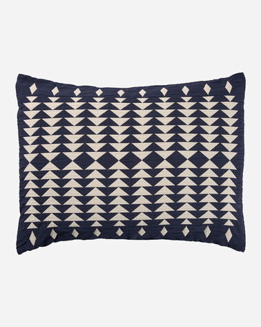 MIDNIGHT NOVA COTTON MATELASSE SHAM IN MIDNIGHT NOVA