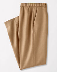 WORSTED WOOL FLANNEL TRUE FIT TROUSERS, CAMEL MIX, large