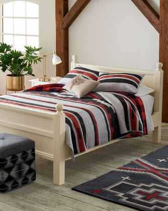 GARNET CANYON PIECED QUILT SET, RED MULTI, large