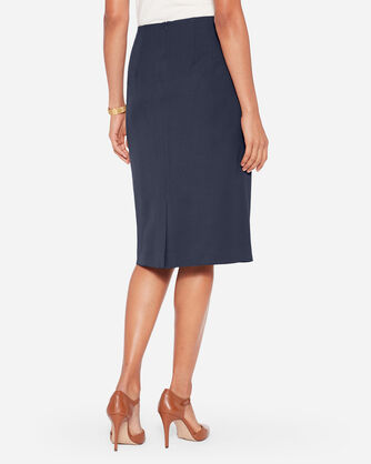 ADDITIONAL VIEW OF SEASONLESS WOOL PENCIL SKIRT IN MIDNIGHT NAVY