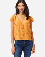 WOMEN'S SHORT-SLEEVE SILK SHIRT