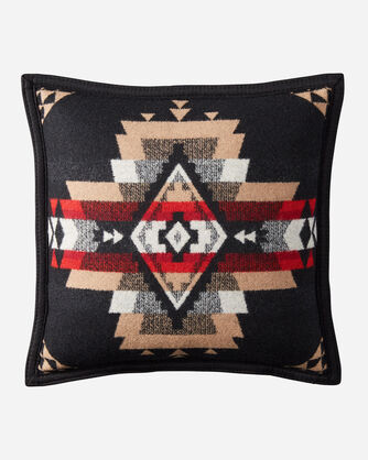 ALTERNATE VIEW OF ROCK POINT PILLOW IN BLACK