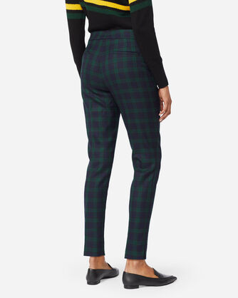 WOMEN'S WOOL PLAID ANKLE PANTS