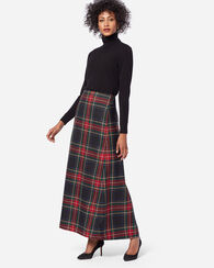 LONG PLAID SKIRT