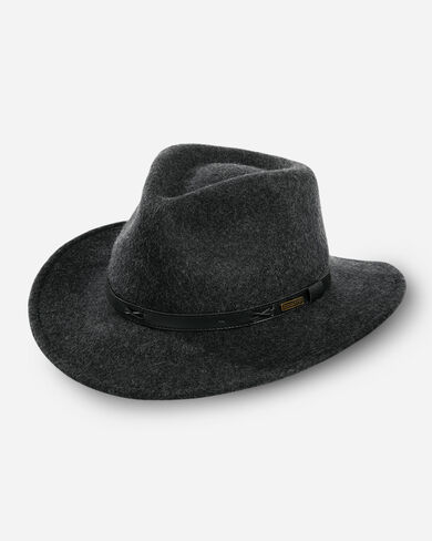 INDY HAT IN CHARCOAL
