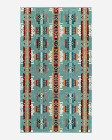 CHIEF JOSEPH SPA TOWEL, AQUA, large