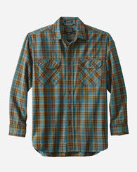 BURNSIDE TWILL SHIRT, TEAL PLAID, large