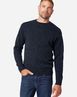MEN'S SHETLAND WASHABLE WOOL CREWNECK IN INDIGO HEATHER