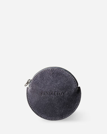 SUEDE COIN PURSE IN GREY/CHARCOAL
