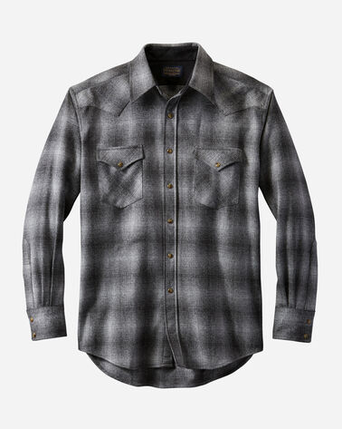 MEN'S SNAP-FRONT WESTERN CANYON SHIRT IN GREY OMBRE