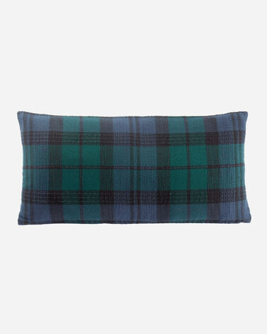 WOVEN PLAID HUG PILLOW IN BLACKWATCH