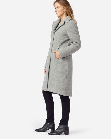ALTERNATE VIEW OF WOMEN'S MICHIGAN AVE DOWN WOOL COAT IN FALCON GREY