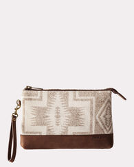 HARDING WOOL MINI POUCH, BEIGE, large
