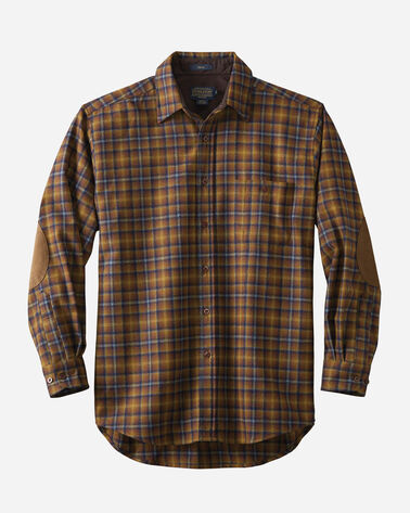 ELBOW-PATCH TRAIL SHIRT, BRONZE/BLUE PLAID, large