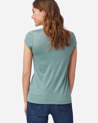 ALTERNATE VIEW OF MACHINE WASHABLE SHORT SLEEVE MERINO TEE IN SEA GLASS BLUE