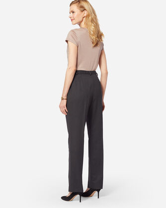 ADDITIONAL VIEW OF SEASONLESS WOOL TRUE FIT TROUSERS IN OXFORD MIX