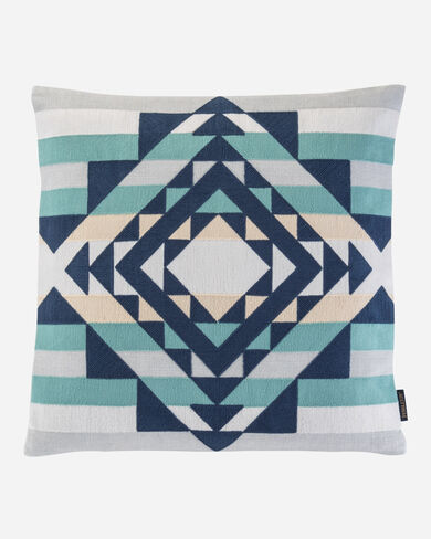 POINT REYES CREWEL EMBROIDERED PILLOW, GREY MULTI, large