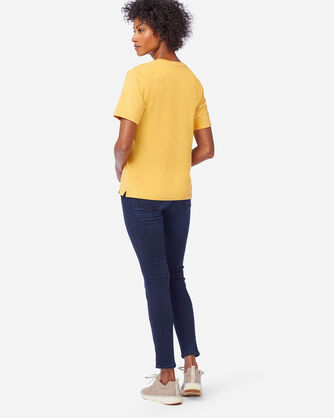 ALTERNATE VIEW OF WOMEN'S DESCHUTES TEE IN MARIGOLD HEATHER