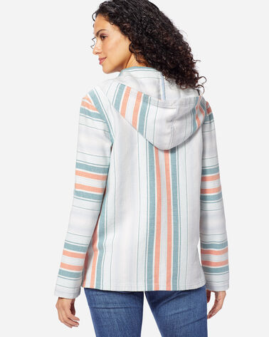 WOMEN'S SURF STRIPE HOODED PULLOVER