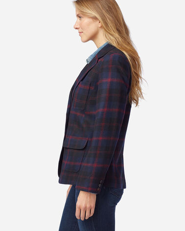 ALTERNATE VIEW OF WOMEN'S BRYNN WOOL BLAZER IN NAVY ANGUS TARTAN