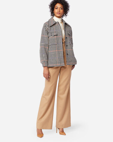 WOMEN'S MARA JACKET, IVORY/BLACK HOUNDSTOOTH, large