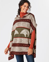 STAR GUARDIAN KNIT PONCHO, TAN, large