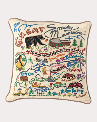GREAT SMOKY MOUNTAINS PILLOW, MULTI, large