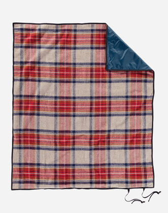ADDITIONAL VIEW OF ROLL-UP BLANKET IN VINTAGE DRESS STEWART