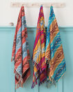ADDITIONAL VIEW OF PAGOSA SPRINGS SPA TOWEL WITH FRINGE IN MARINE