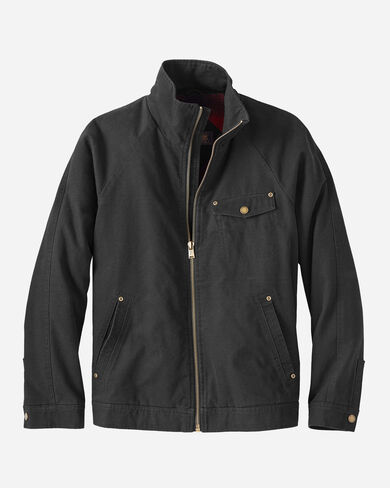 MEN'S WOLF POINT CANVAS JACKET IN BLACK/RED