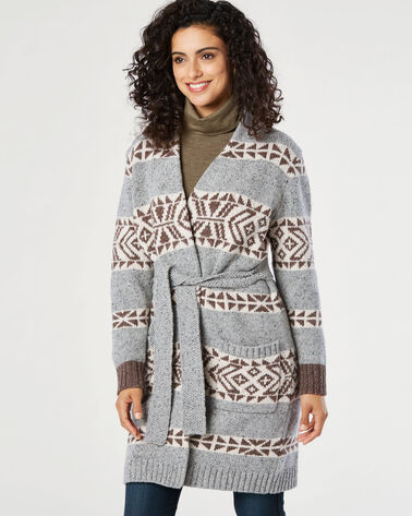 LODGE WRAP CARDIGAN, , large