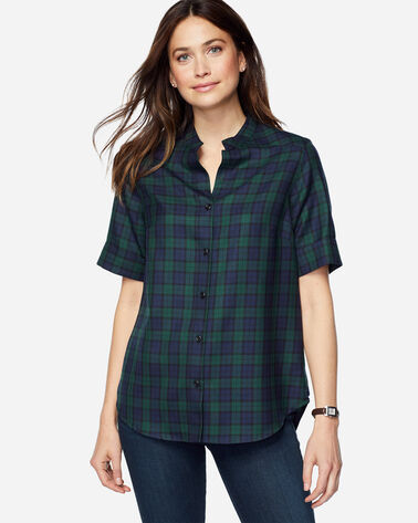 AMELIA PLAID WOOL TUNIC, BLACK WATCH TARTAN, large