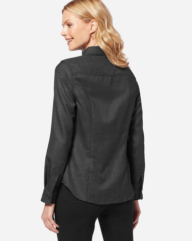 MAYA WOOL SHIRT, CHARCOAL, large