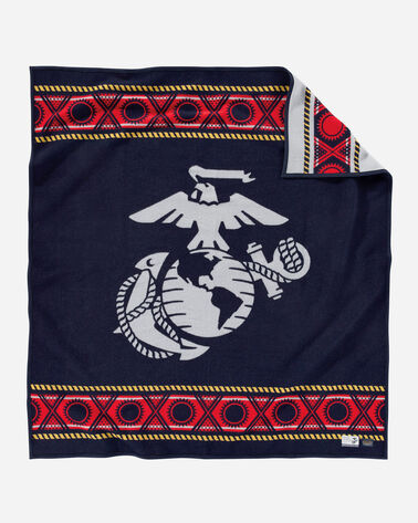 THE FEW. THE PROUD. THE MARINES. BLANKET IN NAVY