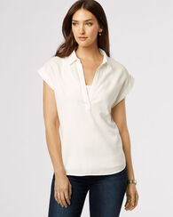SANDI PULLOVER SHIRT, WHITE, large