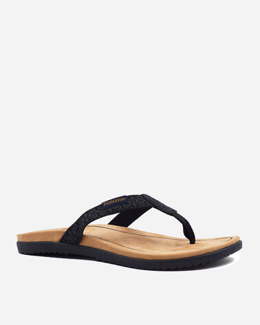 ALTERNATE VIEW OF WOMEN'S AGATE BEACH FLIP FLOPS IN WESTERLEY BLACK